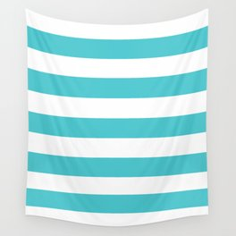 Sea Serpent - solid color - white stripes pattern Wall Tapestry