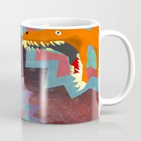 dinosaurs Mugs featuring DINOSAURS by Cody Weber