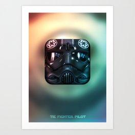 TIE Fighter Pilot Art Print