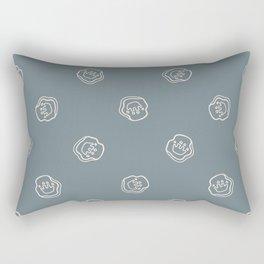 Seamless background dinosaur foot print gender neutral baby pattern.  Rectangular Pillow