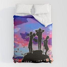 Vanlife purple Comforters
