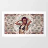 venus Art Prints featuring VENUS by Galvanise The Dog
