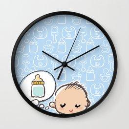 Baby boy Thinking of Milk Wall Clock
