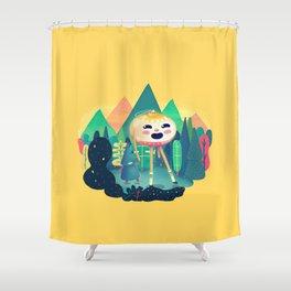 A Christmas Hike Shower Curtain