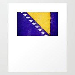 Bosnia and Herzegovina Flag design design Art Print