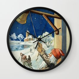 """Ring the Bell"" by Jenny Nystrom Wall Clock"