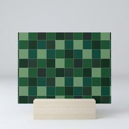 Checker Verde III Mini Art Print