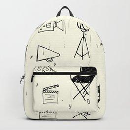 Filmmaking Pattern // Ink Drawing Backpack