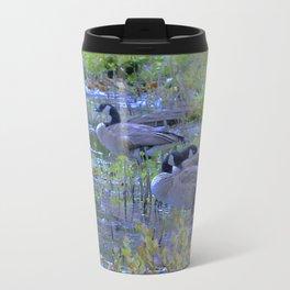 Geese in the Reeds Metal Travel Mug