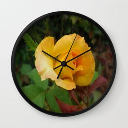 Yellow Rose of TEXAS Wall Clock