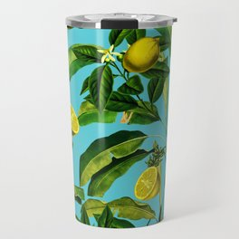 Lemon and Leaf II Travel Mug