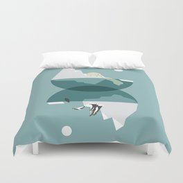 North and south Duvet Cover