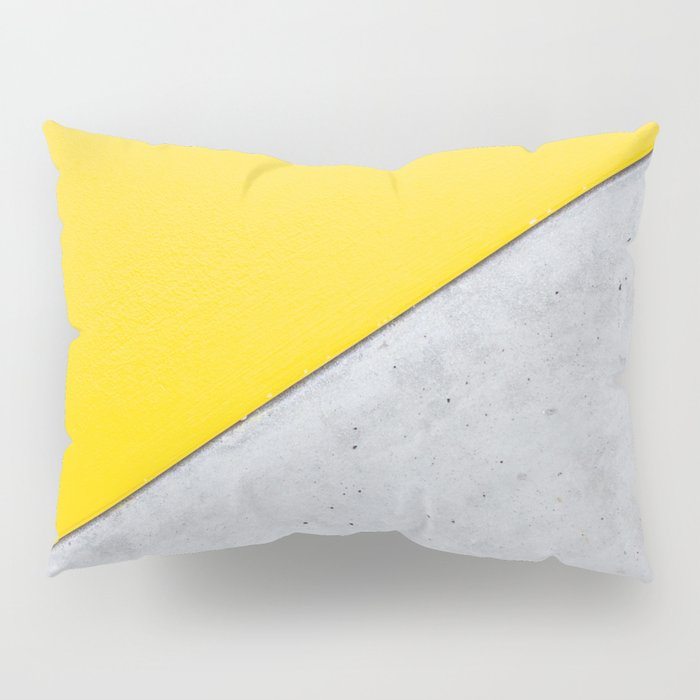 Yellow Gray Abstract Background Pillow Sham