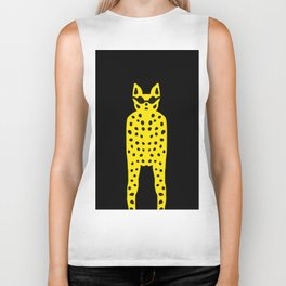 Leopard in Dark Glasses - Cool Cat Dude! Biker Tank