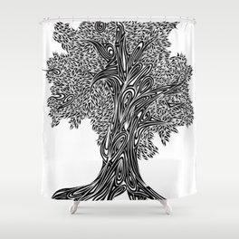Gnarled Oak Tree Shower Curtain
