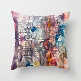 chaotic structure Throw Pillow