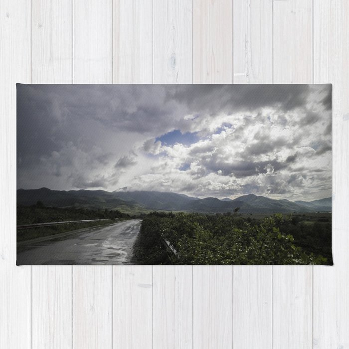 After the storm II - on the road Rug