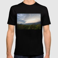 Storm clouds over Australian landscape Black MEDIUM Mens Fitted Tee
