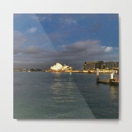 Sydney Opera House And Harbour Metal Print