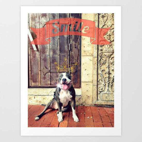 Pitbull Smile Art Print