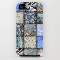 Faux Patchwork Quilting - Blues Tough Case iPhone SE