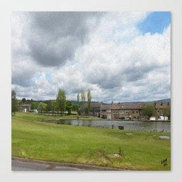 Rochdale Syke pond Canvas Print