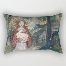 Gwynith and the White Rabbit Rectangular Pillow