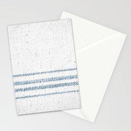 Vintage Farmhouse Grain Sack Soft Blue Stripes  Stationery Cards