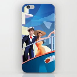 COUPLE ON YACHT iPhone Skin
