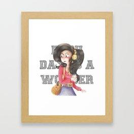 Each day is a Wonder Framed Art Print