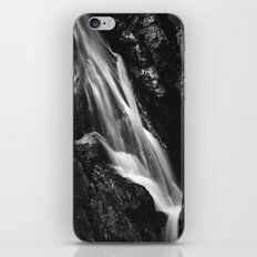 Black and white waterfall in Hell Gorge, Slovenia iPhone & iPod Skin