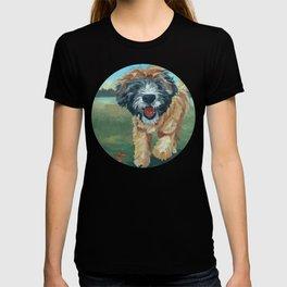 Wheaton Terrier Dog Portrait T-shirt