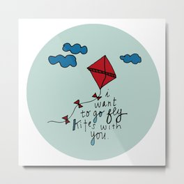 Let's Go Fly A Kite. Metal Print