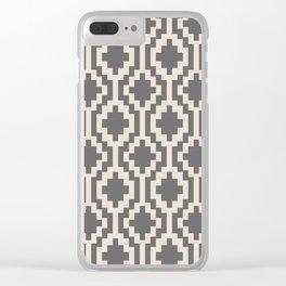 Mapuche Natural Black Clear iPhone Case