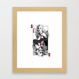Marylin Monroe Queen Card Framed Art Print
