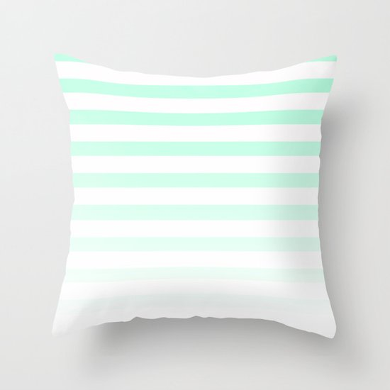 MINT STRIPE FADE Throw Pillow