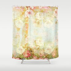 vintage roses and pastel tones Shower Curtain