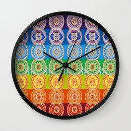 SEVEN CHAKRA SYMBOLS OF HEALING ART Wall Clock