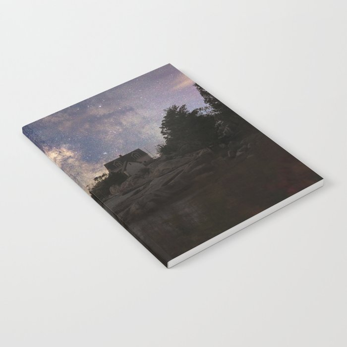 Photoart Lighthouse under the stars Notebook