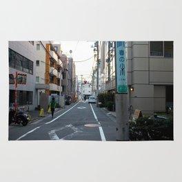 Sunset over Tokyo Alleys Rug