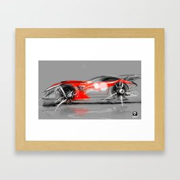 Sketches and X Framed Art Print
