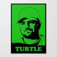 entourage Canvas Prints featuring Entourage - Turtle by StriveArt