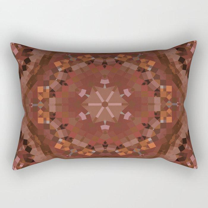 Hardwood Hill Brown Kaleidoscope Rectangular Pillow