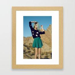 Girl on Mars Framed Art Print