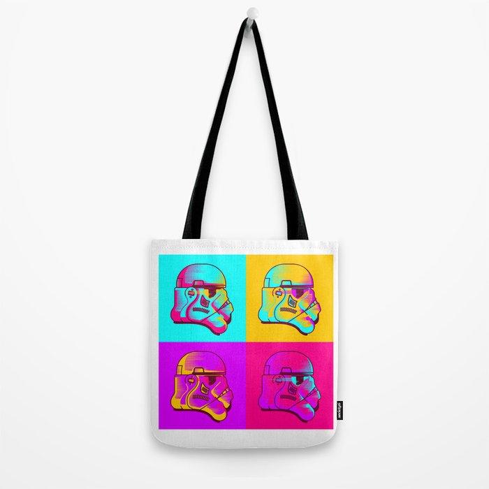 Neon Troopers Tote Bag
