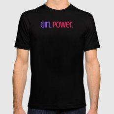Girl Power. MEDIUM Mens Fitted Tee Black