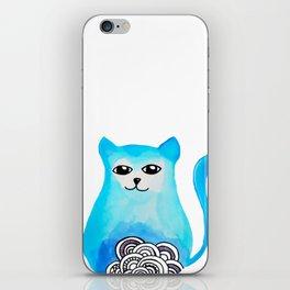 cat blue iPhone Skin