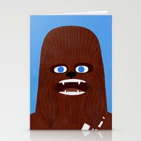 chewbacca Stationery Cards featuring Chewbacca by Jack Teagle