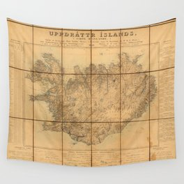Map Of Iceland 1849 Wall Tapestry