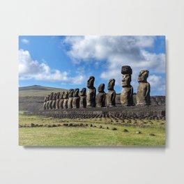 Hello, Moai Metal Print